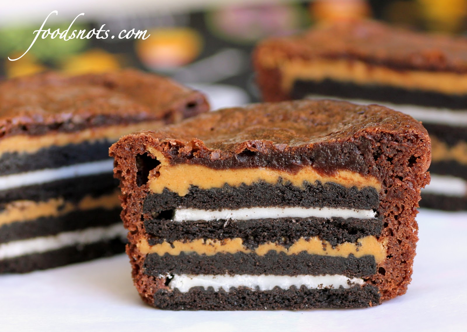 Oreo and Peanut Butter Brownie Cakes « Recipe Snobs